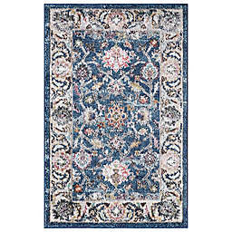 Concord Global Trading Istanbul Border 2'7 x 4'1 Area Rug in Navy