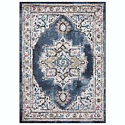 Concord Global Trading Barclay 7'10 x 10'6 Medallion Area Rug in Navy