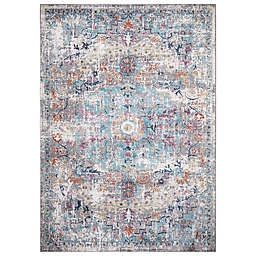 Concord Global Trading Azure Medallion Rug in Grey
