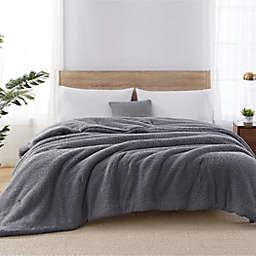 Sherpa Reversible Full/Queen Comforter in Grey