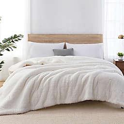 Sherpa Reversible Twin Comforter in Coconut Milk