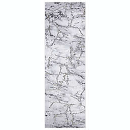 Concord Global Trading Dallas 2'3 x 7'3 Abstract Runner in Grey
