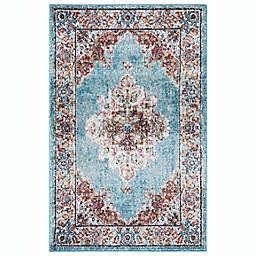 Concord Global Trading Elegance Medallion 2'7 x 4'1 Area Rug in Blue