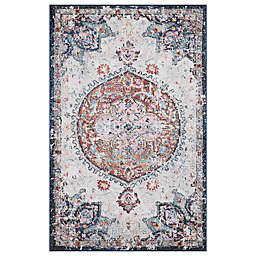 Concord Global Trading Florence Medallion 2'7 x 4'1 Area Rug in Ivory