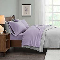 True North by Sleep Philosophy Micro Fleece California King Sheet Set in Lavender