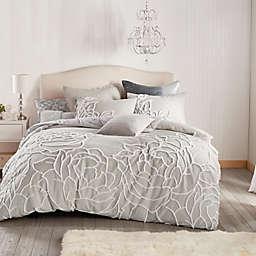 Peri Home Chenille Rose Full/Queen Comforter Set in Grey