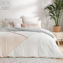Peri Home Colorblock Fringe 3-Piece Full/Queen Comforter Set