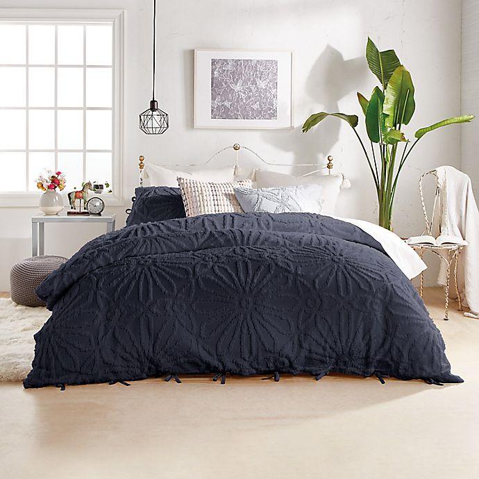 Alternate image 1 for Peri Home Chenille Medallion 3-Piece Full/Queen Comforter Set in Indigo
