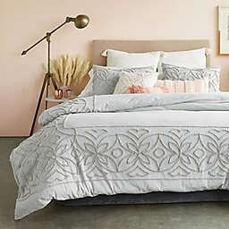 Peri Home Chenille Border 3-Piece Full/Queen Comforter Set in Grey