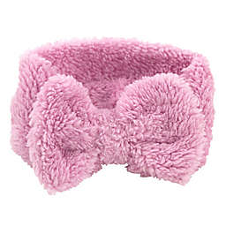 Toddler Sherpa Bow Headband in Pink