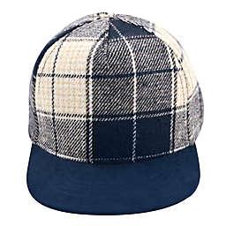 Flannel Baseball Cap in Navy Plaid