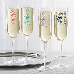 Scripty Style Champagne Flute