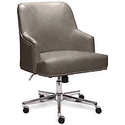 Serta® Leighton Bonded Leather Upholstered Office Chair in Grey