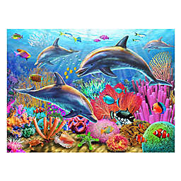 Wuundentoy USA Dolphins in the Sea 500-Piece Jigsaw Puzzle