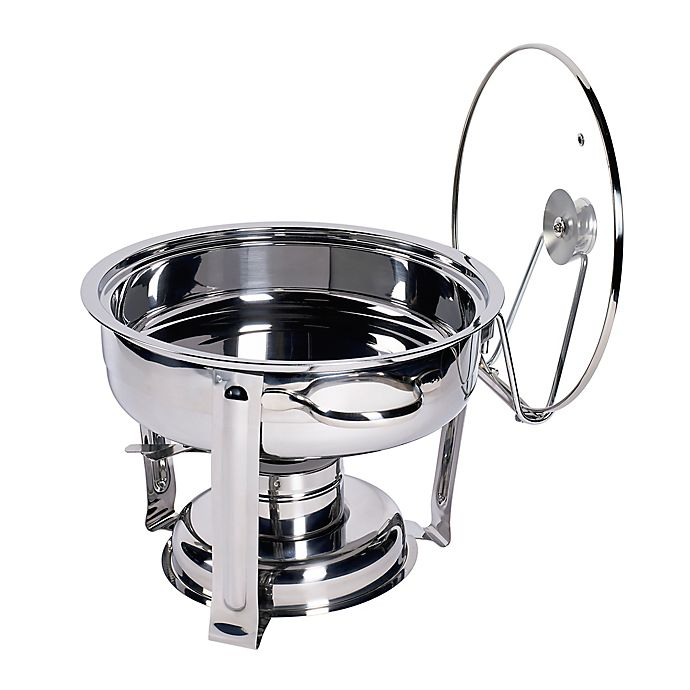 Alternate image 1 for Our Table™ 4-Quart Stainless Steel Round Chafing Dish