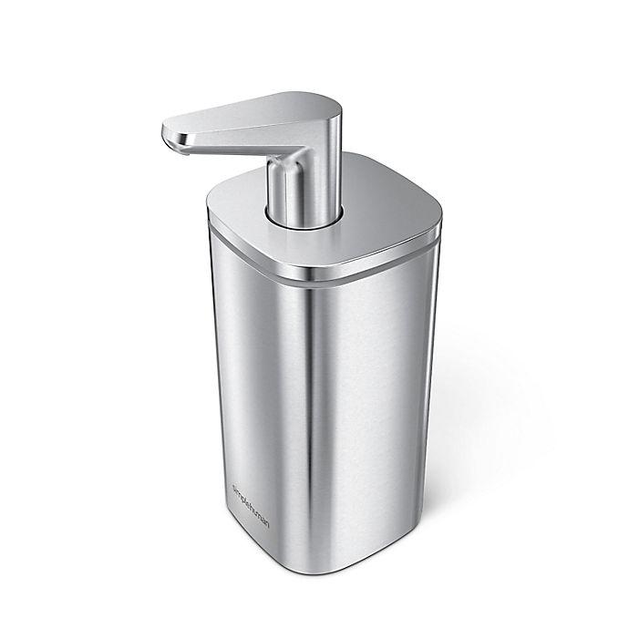 Alternate image 1 for simplehuman® Brushed Pulse Soap Dispenser in Brushed Grey