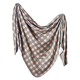 Copper Pearl Billy Knit Swaddle Blanket in Brown