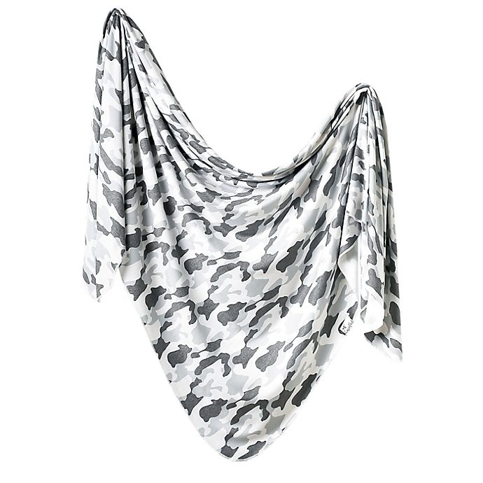 Alternate image 1 for Copper Pearl Gunnar Knit Swaddle Blanket in Grey