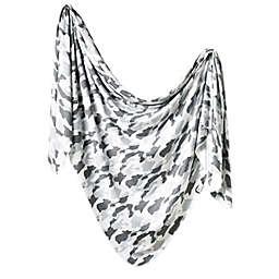 Copper Pearl Gunnar Knit Swaddle Blanket in Grey