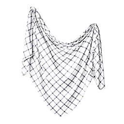 Copper Pearl Ledger Knit Swaddle Blanket in White