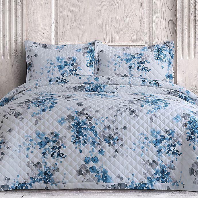 Alternate image 1 for Isabella 3-Piece King Quilt Set in Blue Grey