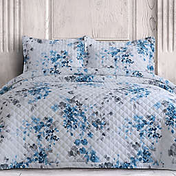 Isabella 3-Piece King Quilt Set in Blue Grey