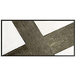 Studio 3B™ Diagonal 60-Inch x 30-Inch Framed Embellished Wall Canvas in Sage/Multi