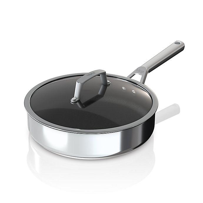 Alternate image 1 for Ninja™ Foodi™ NeverStick™ Nonstick 3 qt. Stainless Steel Saute Pan