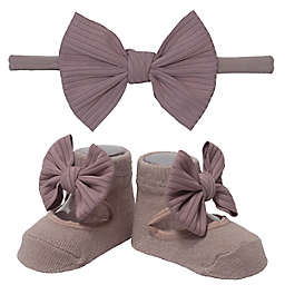 So 'dorable Size 0-12M 2-Piece Sea Fog Headband and Bootie Set