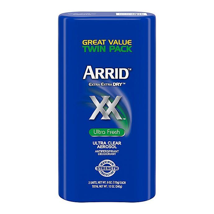 Alternate image 1 for ARRID™ Extra Extra DRY™ 2-Pack Aerosol Antiperspirant Deodorant in Ultra Fresh