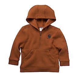 Carhartt® Fleece Long Sleeve Half Zip Hoodie in Brown