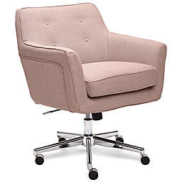 Serta® Ashland Upholstered Office Chair in Pink Twill