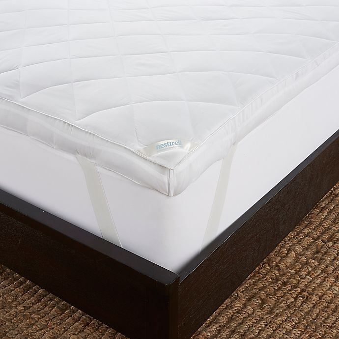 Alternate image 1 for Nestwell™ Double Layer Fiberbed King Mattress Topper