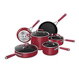Ninja™ Foodi™ NeverStick™ Vivid Nonstick Aluminum 10-Piece Cookware Set in Red