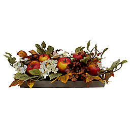 Bee & Willow™ 6.5-Inch Hydrangeas and Apples Floral Centerpiece with Wooden Box