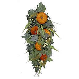 28-Inch Faux Pumpkin/Berry Teardrop Decoration