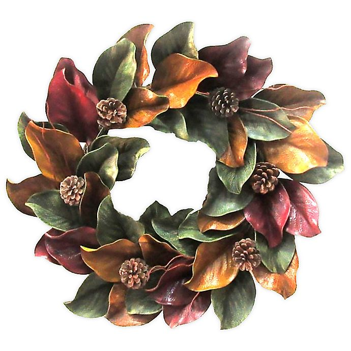 Alternate image 1 for Bee & Willow™ 24-Inch Magnolia Wreath