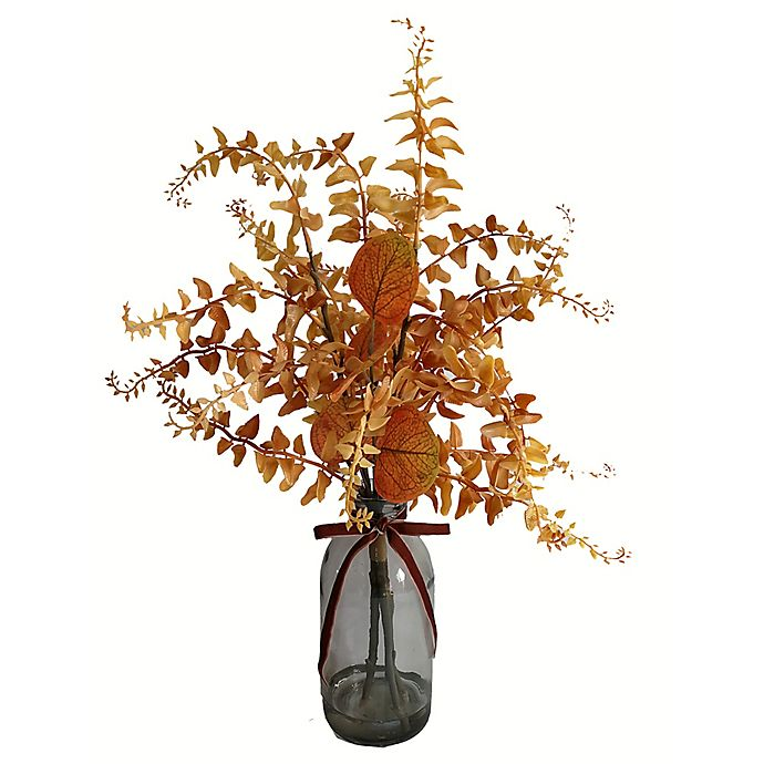 Alternate image 1 for Bee & Willow™ 20-Inch Orangle Leaves with Glass Jar