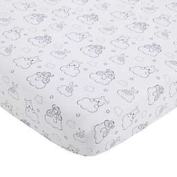 "Disney® ""Hello Sunshine"" Fitted Crib Sheet in Grey"