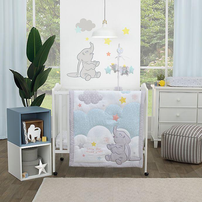 Alternate image 1 for Disney® Dumbo Shine Bright Little Star 3-Piece Crib Bedding Set in Grey