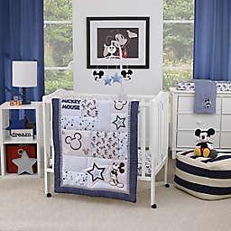 Disney® Timeless Mickey Mouse 3-Piece Mini Crib Bedding Set in Navy