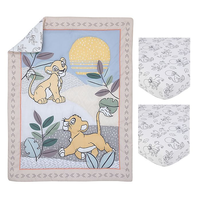 Alternate image 1 for Disney® Leader of the Pack 3-Piece Mini Crib Bedding Set in Taupe