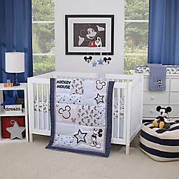 Disney® Timeless Mickey Mouse 3-Piece Crib Bedding Set in Navy