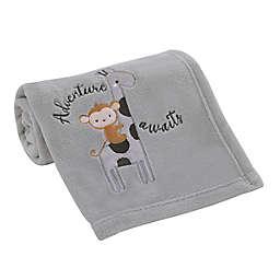 Little Love by NoJo® Jungle Ride Baby Blanket in Grey