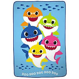 Baby Shark Plush Twin Blanket in Blue/Multi