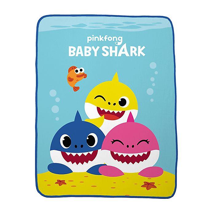 Alternate image 1 for Baby Shark Plush Throw Blanket in Blue/Multi