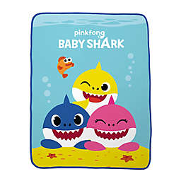 Baby Shark Plush Throw Blanket in Blue/Multi