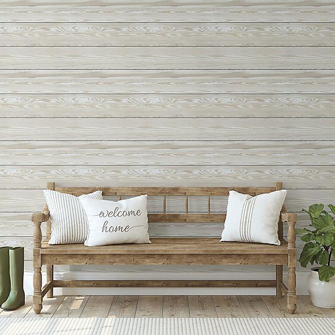 Alternate image 1 for RoomMates® Shiplap Peel and Stick Wallpaper