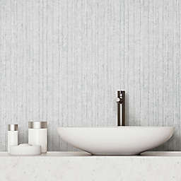 RoomMates® Crackled Stria Texture Peel and Stick Wallpaper in Grey