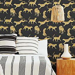RoomMates® Cheetah Cheetah Peel and Stick Wallpaper in Black/Orange
